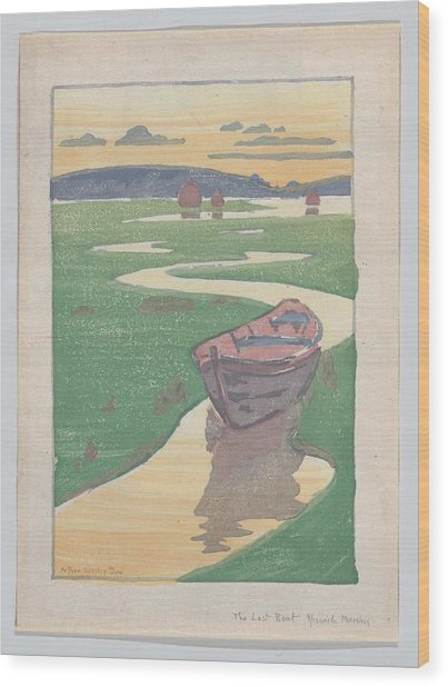 The Lost Boat , Arthur Wesley Dow Wood Print