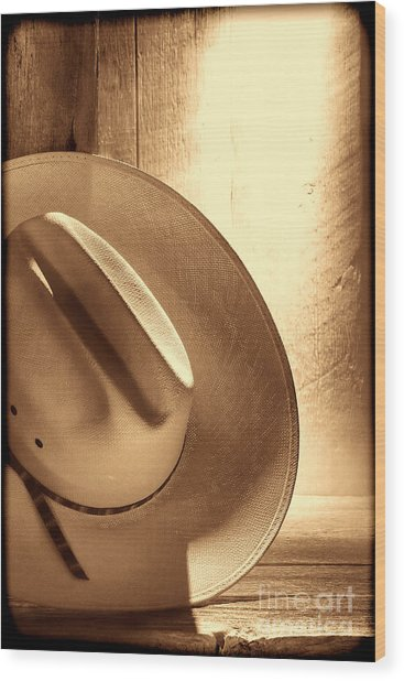 The Lost Hat Wood Print