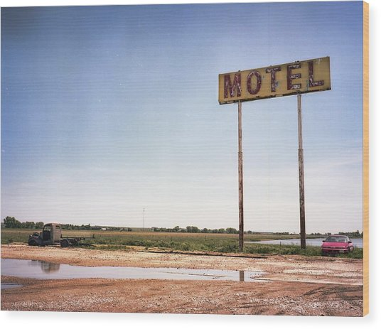 The Lost Motel Wood Print by HW Kateley