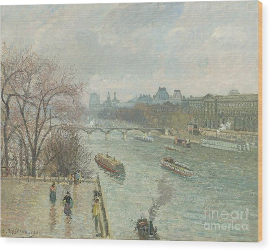 The Louvre, Afternoon, Rainy Weather, 1900  Wood Print