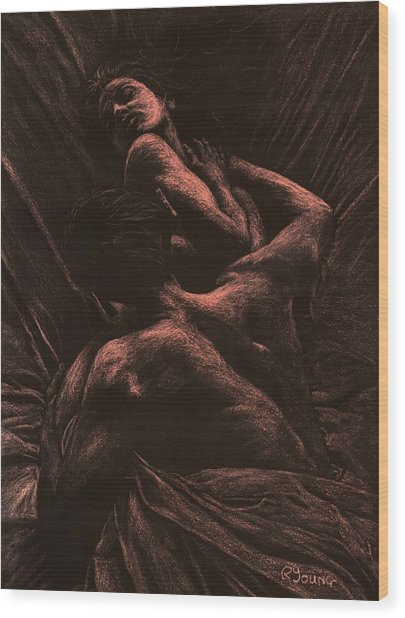 The Lovers Wood Print
