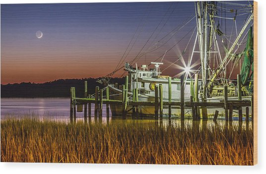 The Low Country Way - Folly Beach Sc Wood Print
