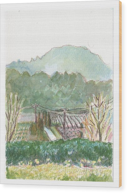 The Luberon Valley Wood Print