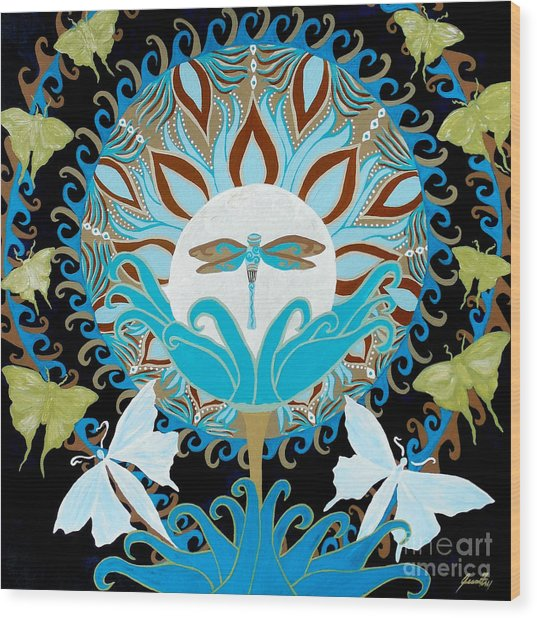 The Luna Moth Journey Of Faith And Love Wood Print