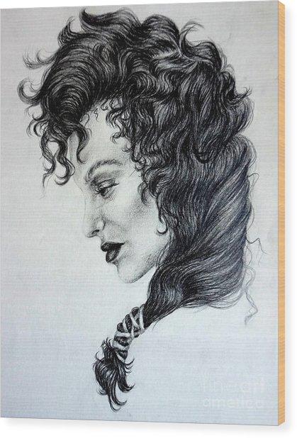 The Madam Wood Print