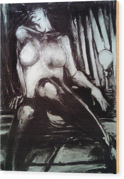 The Madonna Of The Woodshed Wood Print