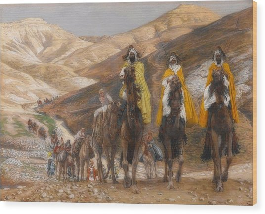 The Magi Journeying Wood Print