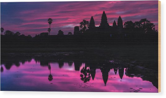 The Magic Of Angkor Wat Wood Print