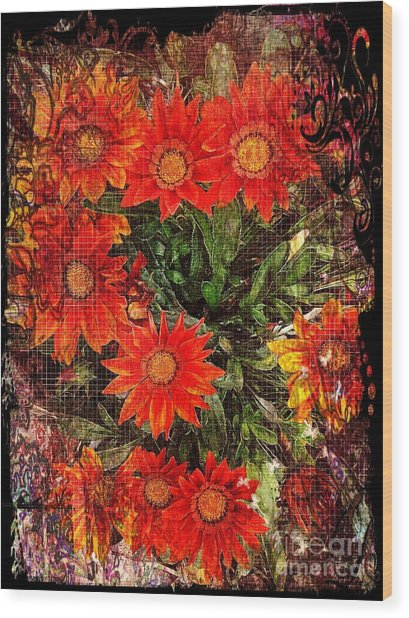 The Magical Flower Garden Wood Print