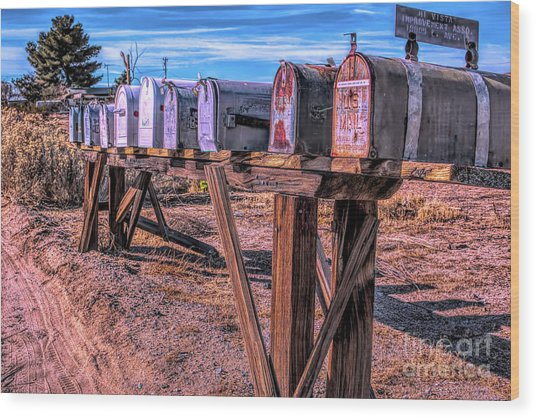 The Mailboxes Wood Print