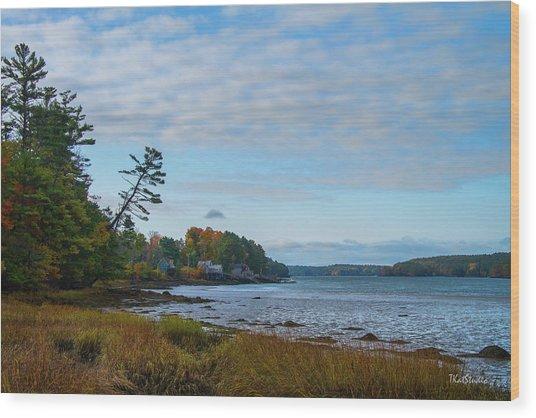 The Maine Coast Near Edgecomb  Wood Print