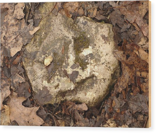 The Man In The Rock Wood Print