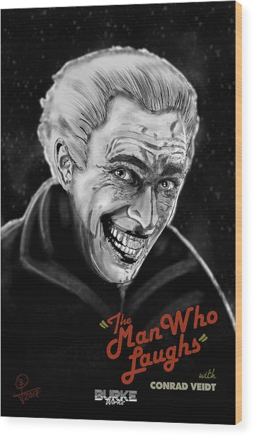 The Man Who Laughs Wood Print by Joseph Burke
