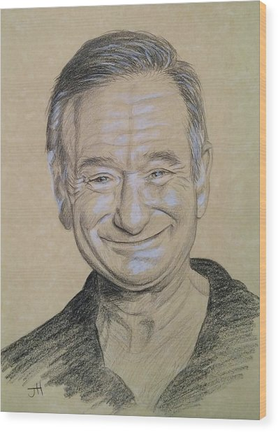 Wood Print featuring the drawing The Man With The Smile by Jennifer Hotai