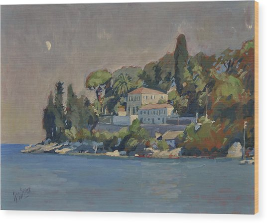 The Mansion House Paxos Wood Print