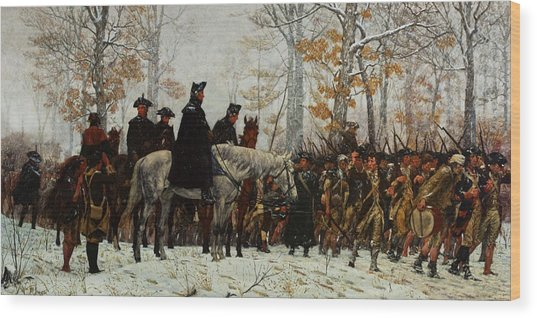 The March To Valley Forge, Dec 19, 1777 Wood Print