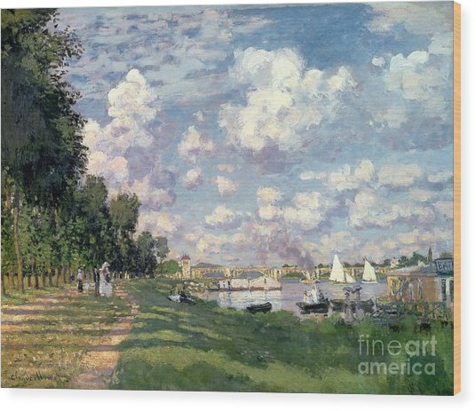 The Marina At Argenteuil Wood Print