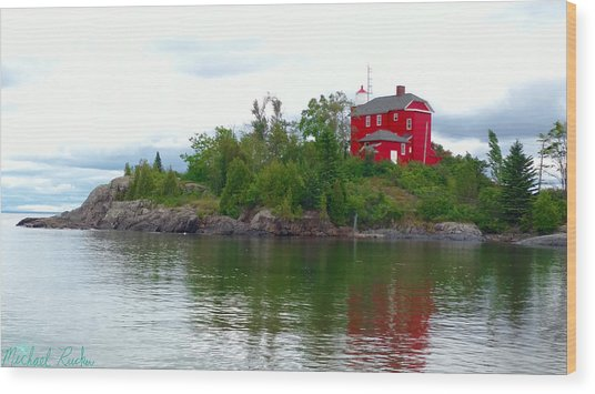 The Marquette Lighthouse Wood Print