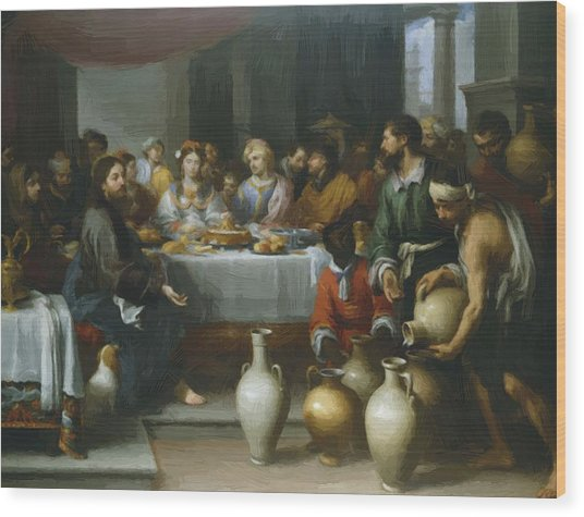The Marriage Feast At Cana Wood Print