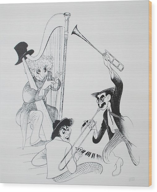 The Marx Brothers O Wood Print