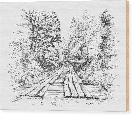 The Mcneely Bridge Wood Print