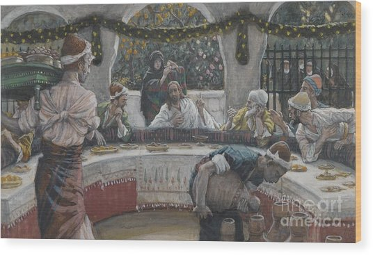 The Meal In The House Of The Pharisee Wood Print