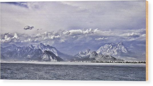 The Mediterranean Coast Wood Print