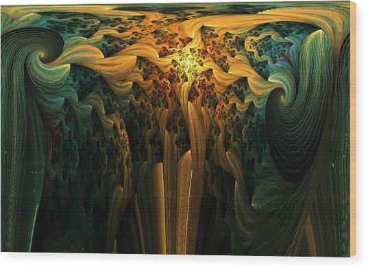 The Melting Earth Wood Print