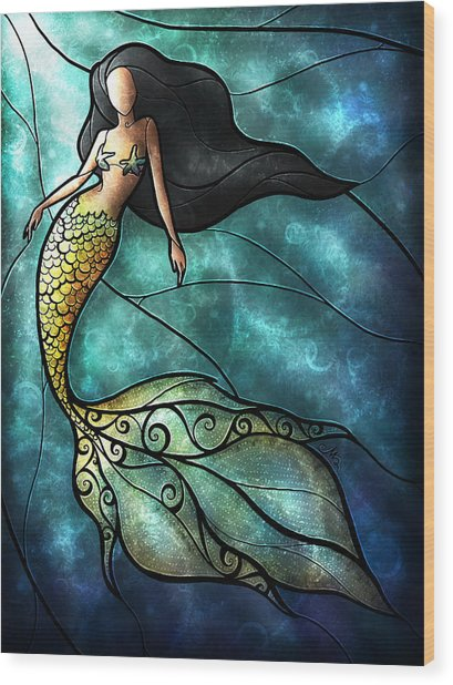 The Mermaid Wood Print