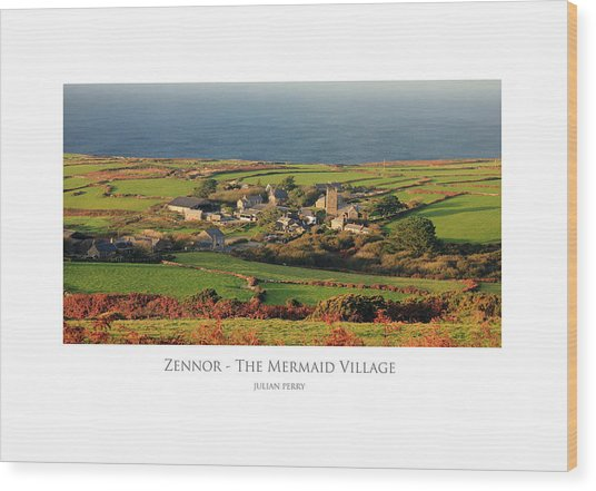 The Mermaid Village Wood Print