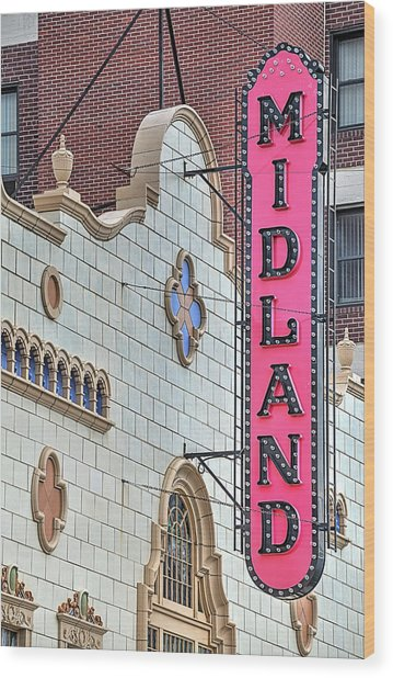 The Midland Theater  Wood Print by JC Findley