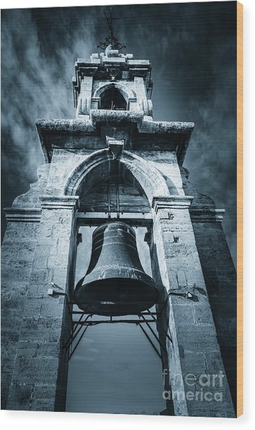 The Miguelete Bell Tower Valencia Spain Wood Print