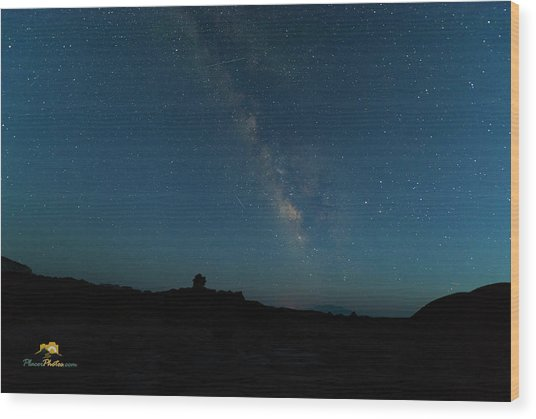 Wood Print featuring the photograph The Milky Way At Goblin Valley by Jim Thompson