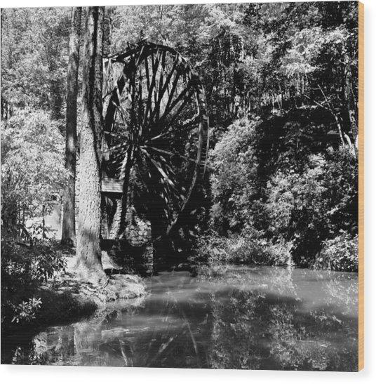 The Mill Wheel Wood Print