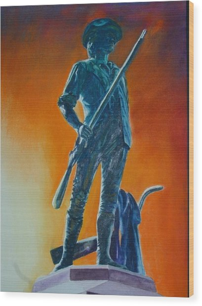 The Minuteman Wood Print by Dwight Williams