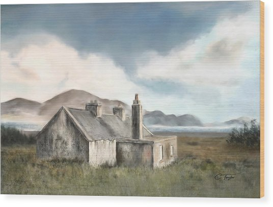 The Mist Of Moorland Wood Print