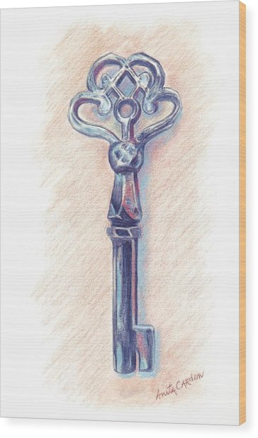 The Mistress' Key Wood Print by Anita Carden