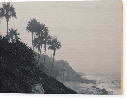 The Mists Of Laguna Beach Wood Print