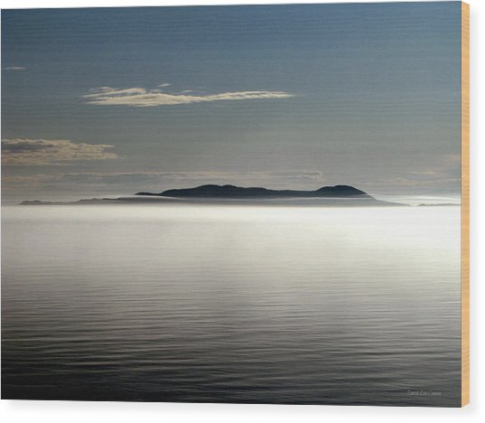 The Mists Of Pic Island Wood Print by Laura Wergin Comeau