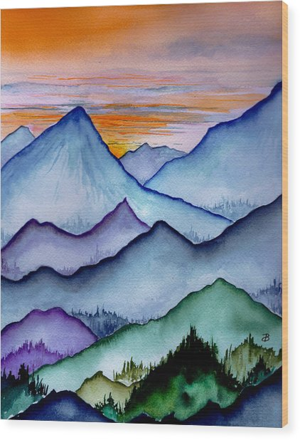 The Misty Mountains Wood Print
