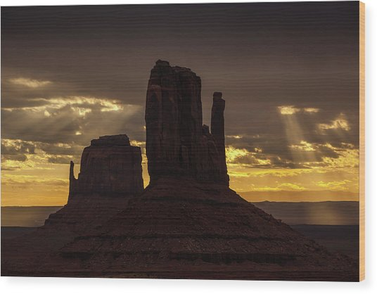 The Mittens Sunrise Wood Print