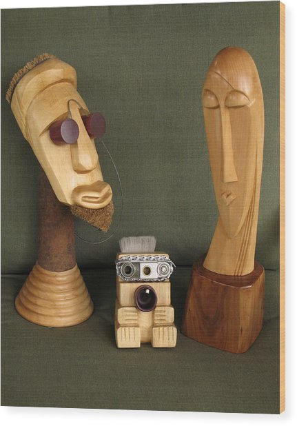 The Modern Family Wood Print by Windy Dankoff