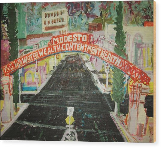 the Modesto Arch  Wood Print by James Christiansen