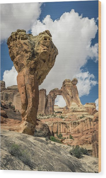 The Molar And Angel Arch Wood Print