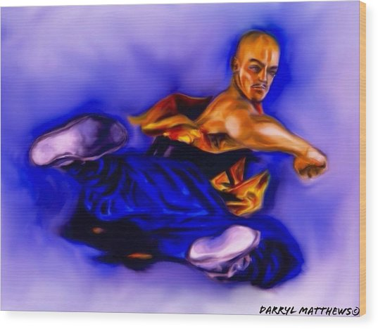 The Monk  Kick. Wood Print