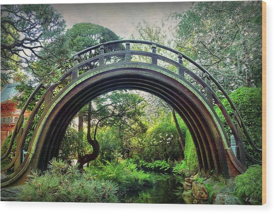 The Moon Bridge Wood Print