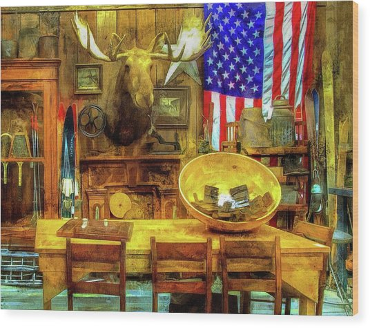 Wood Print featuring the photograph The Moose by Thom Zehrfeld