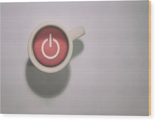 The Morning Power Up Wood Print