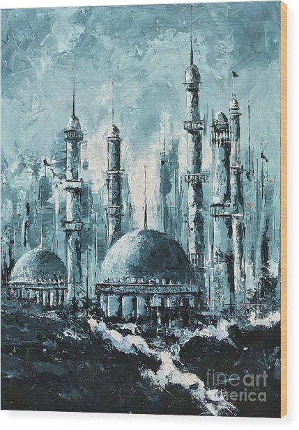 The Mosque-2 Wood Print