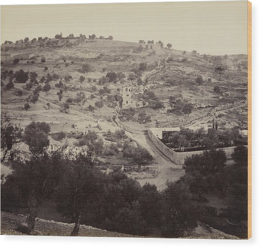 The Mount Of Olives And Garden Of Gethsemane Wood Print